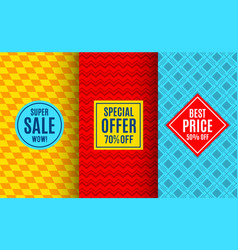 super sale label tag bright pattern vector image vector image