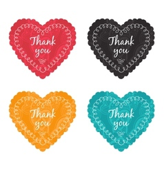Thank you label set vector image