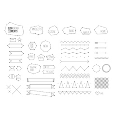 Ultimate design elements blog kit for your vector