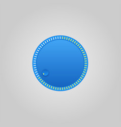 user interface control blue web element circle vector image