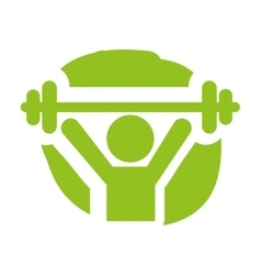 weight lifting silhouette isolated vector image vector image