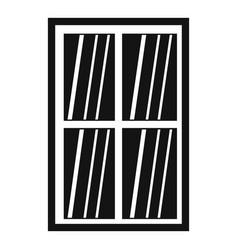 White latticed rectangle window icon simple vector