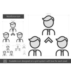 Workforce line icon vector image