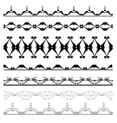 Set of geometric decorative elements for design vector