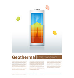 green energy concept background with geothermal vector image