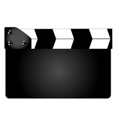 Blank movie clapperboard vector