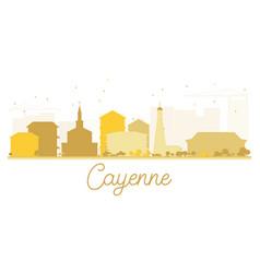 Cayenne city skyline golden silhouette vector