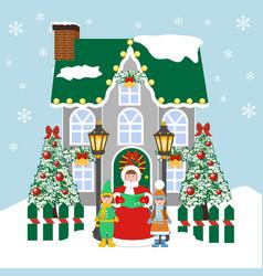 Christmas carols singers vector