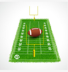 American football field perspective view vector