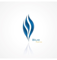 blue flame vector image