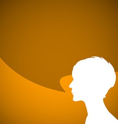 Abstract speaker silhouette vector image