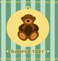 Baby greeting card with bear vector