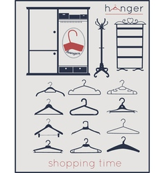 Hanger shopping time vector