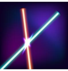 Neon swords Flash contact vector image