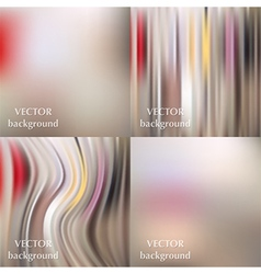 Abstract beautiful colorful blurred wavy smooth vector