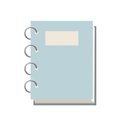 Closed spiral notebook icon cartoon style vector