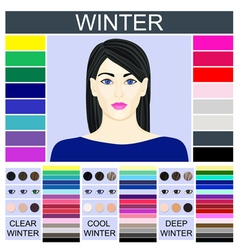 Stock set of three winter types of female vector