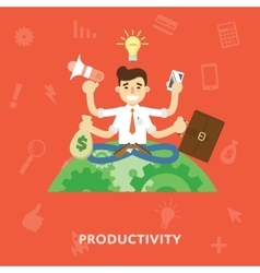 Business productivity concept vector
