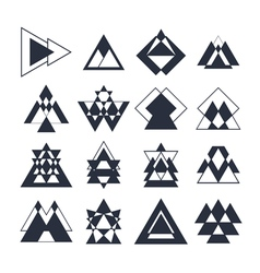Abstract hipster style icons for logo design vector