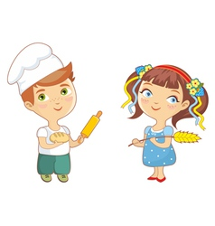Baker children vector