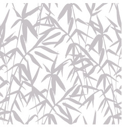 Bamboo grey seamless japanese pattern on white vector