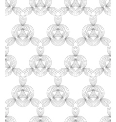 Black and white abstract geometric seamless patter vector image