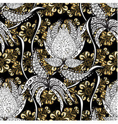 Black white and gray colors with golden elements vector
