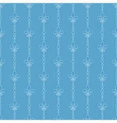 Blue lace background with royal lily vector