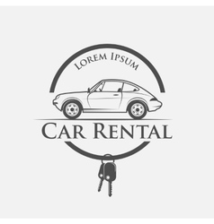 car rental logo vector image vector image