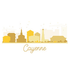 Cayenne city skyline golden silhouette vector