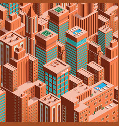 Cityscape of new york isometric perspective vector