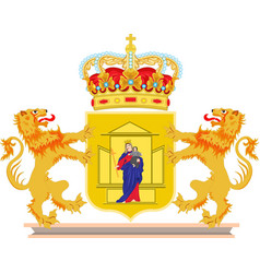 coat of arms of drenthe of netherlands vector image vector image