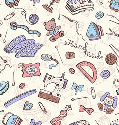Craft tools background vector