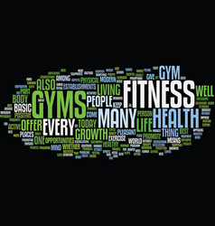 Fitness gym text background word cloud concept vector