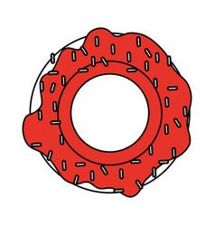 flat line donut design vector image