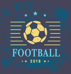 football logo template vector image