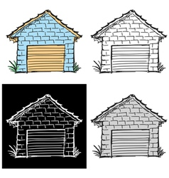 garage vector image