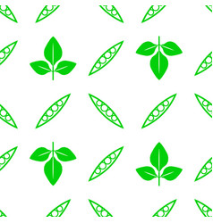 Green soybeans seamless pattern vector