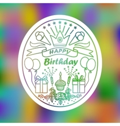 Happy Birthday Sign vector image