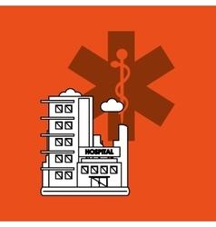 Hospital design healthy center emergency concept vector