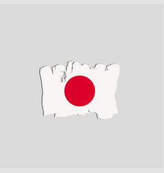 japan flag painted by brush hand paints art flag vector image vector image