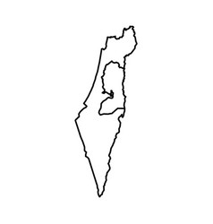 map of israel vector image