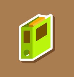 Paper sticker on stylish background folder for vector