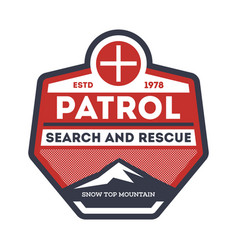 Patrol search and rescue vintage label vector