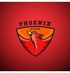 Phoenix rising abstract logo template vector