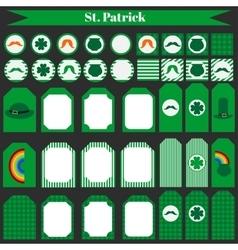 Printable set of saint patrick party elements vector image vector image