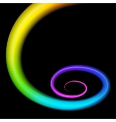 Rainbow 3d swirl Realistic vector image vector image