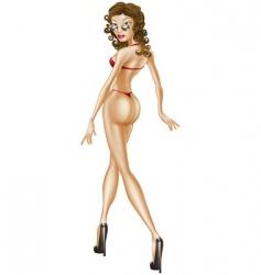 sexy woman in bikini vector image