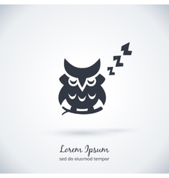 Sleeping owl logo dream concept icon vector