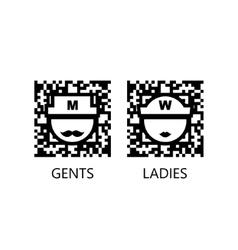 Toilet qr code sign vector